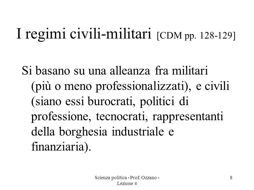 I regimi civili-militari [CDM pp. 128-129]